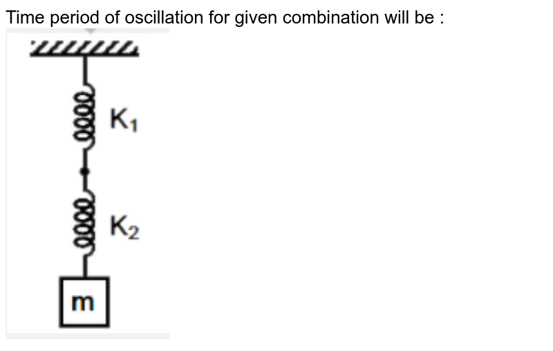 """Time period of oscillation for given combination will be : <br> <img src=""""https://d10lpgp6xz60nq.cloudfront.net/physics_images/RES_AIIMS_ENT_26_MAY_19_S2_E01_002_Q01.png"""" width=""""30%"""">"""