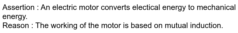 What energy-conversion takes place during the working of a d.c. motor ?