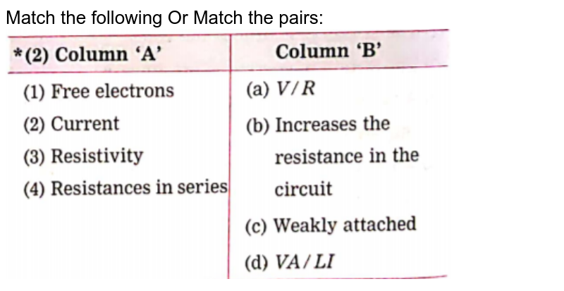 """Match the following Or Match the pairs:<br> <img src=""""https://doubtnut-static.s.llnwi.net/static/physics_images/NAV_SCT_IX_C03_E07_002_Q01.png"""" width=""""80%"""">"""