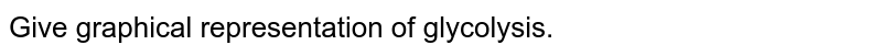 Give graphical representation of glycolysis.