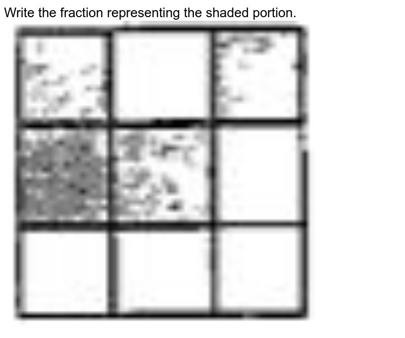 """Write the fraction representing the shaded portion. <br> <img src=""""https://doubtnut-static.s.llnwi.net/static/physics_images/SWN_MAT_VI_C05_E01_003_Q01.png"""" width=""""80%"""">"""