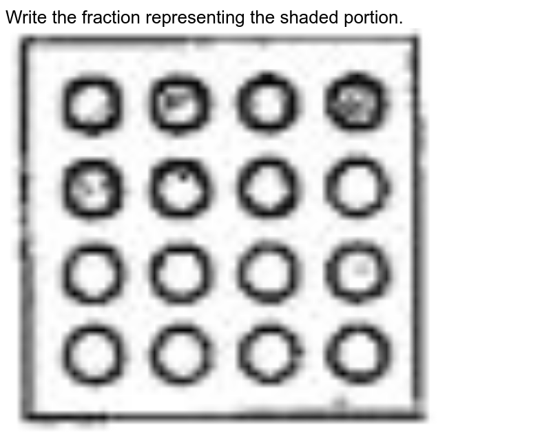 """Write the fraction representing the shaded portion. <br> <img src=""""https://doubtnut-static.s.llnwi.net/static/physics_images/SWN_MAT_VI_C05_E01_005_Q01.png"""" width=""""80%"""">"""
