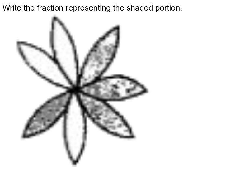 """Write the fraction representing the shaded portion. <br> <img src=""""https://doubtnut-static.s.llnwi.net/static/physics_images/SWN_MAT_VI_C05_E01_008_Q01.png"""" width=""""80%"""">"""