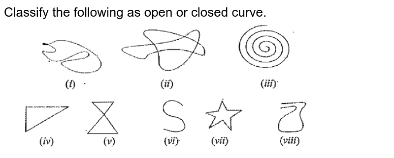 """Classify the following as open or closed curve. <br> <img src=""""https://doubtnut-static.s.llnwi.net/static/physics_images/SWN_MAT_VI_C08_E02_002_Q01.png"""" width=""""80%"""">"""