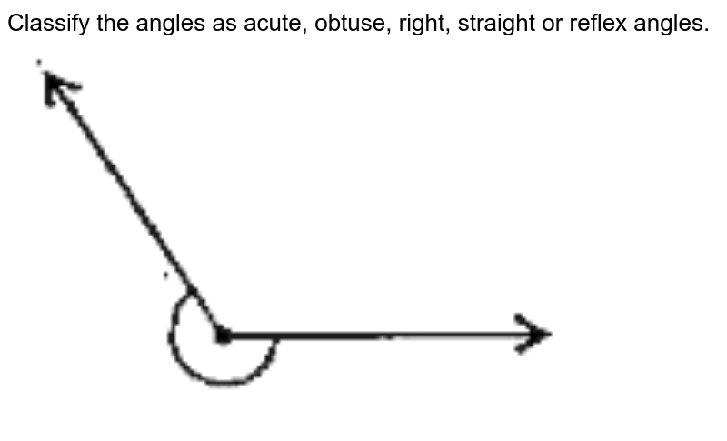 """Classify the angles as acute, obtuse, right, straight or reflex angles. <br> <img src=""""https://doubtnut-static.s.llnwi.net/static/physics_images/SWN_MAT_VI_C09_E02_009_Q01.png"""" width=""""80%"""">"""