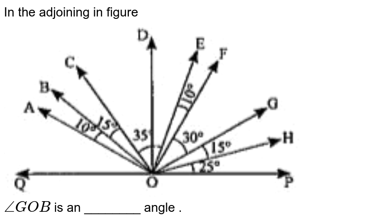 """In the adjoining in figure <br> <img src=""""https://doubtnut-static.s.llnwi.net/static/physics_images/ND_SM_MAT_VI_C05_E13_041_Q01.png"""" width=""""80%""""> <br> `angleGOB` is an ________ angle ."""