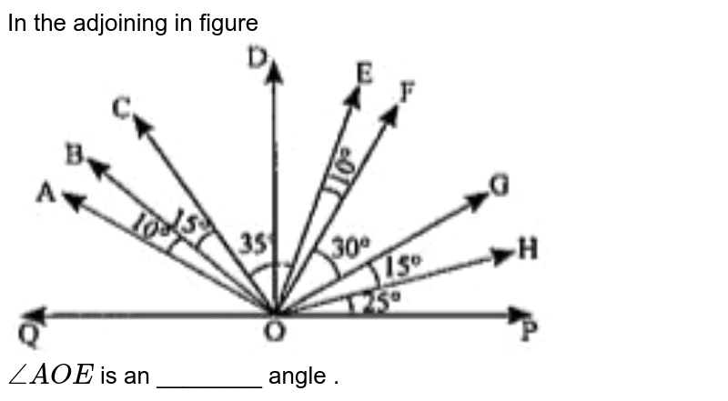 """In the adjoining in figure <br> <img src=""""https://doubtnut-static.s.llnwi.net/static/physics_images/ND_SM_MAT_VI_C05_E13_045_Q01.png"""" width=""""80%""""> <br> `angleAOE`  is an ________ angle ."""
