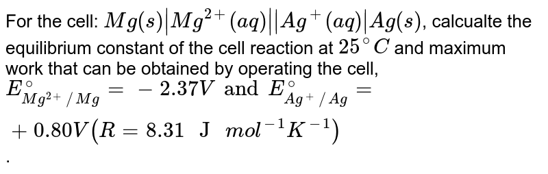 """For the cell: `Mg(s)