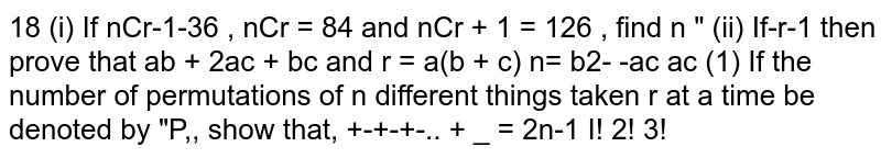 If the number of permutations of `n` different things taken `r` at a time be denoted by `nP_r` show that `(nP_1)/(1!)+(nP_2)/(2!)+(nP_3)/(3!)+......+(nP_n)/(n!)=2^n-1`