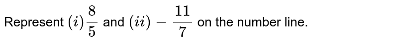 Represent `(i) (8)/(5)` and  `(ii) -(11)/(7)` on the number line.