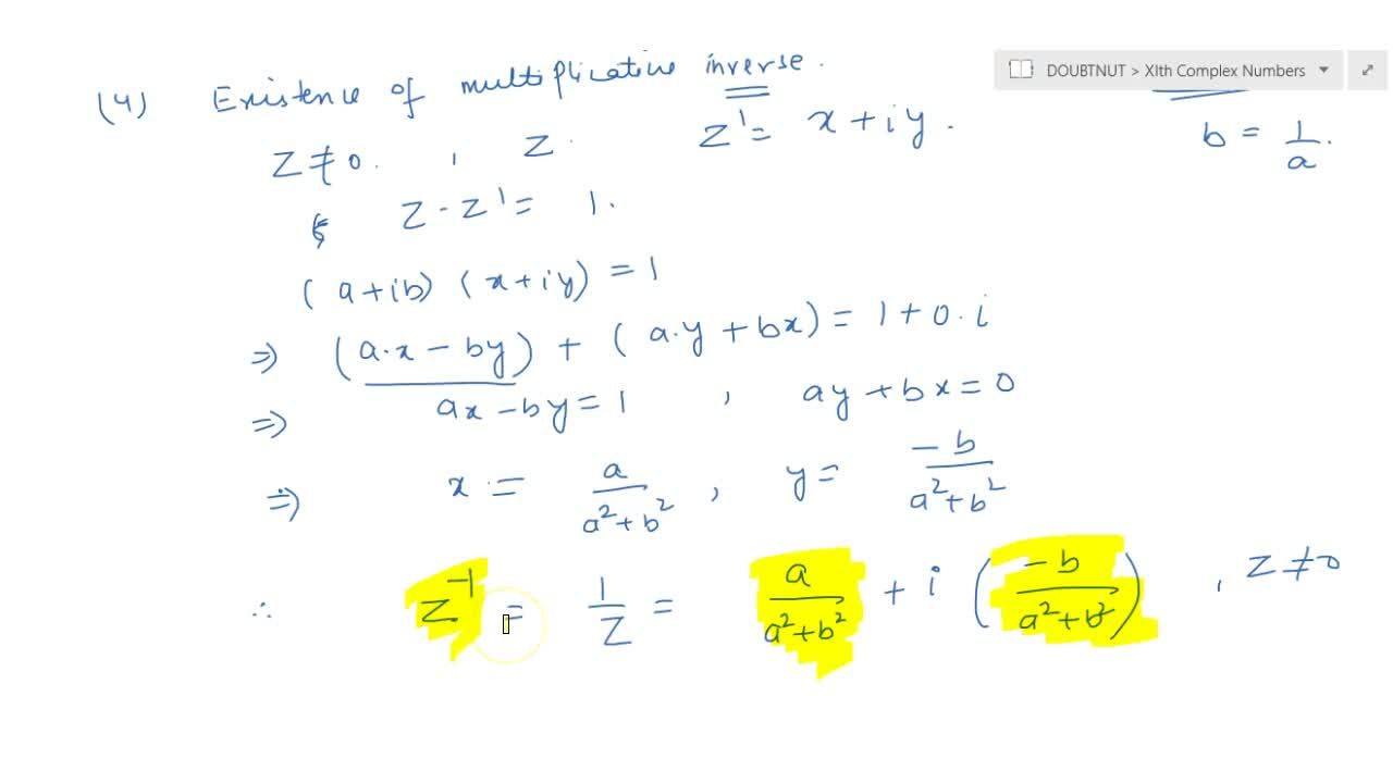 Solution for multiplication of two complex no. and their proper