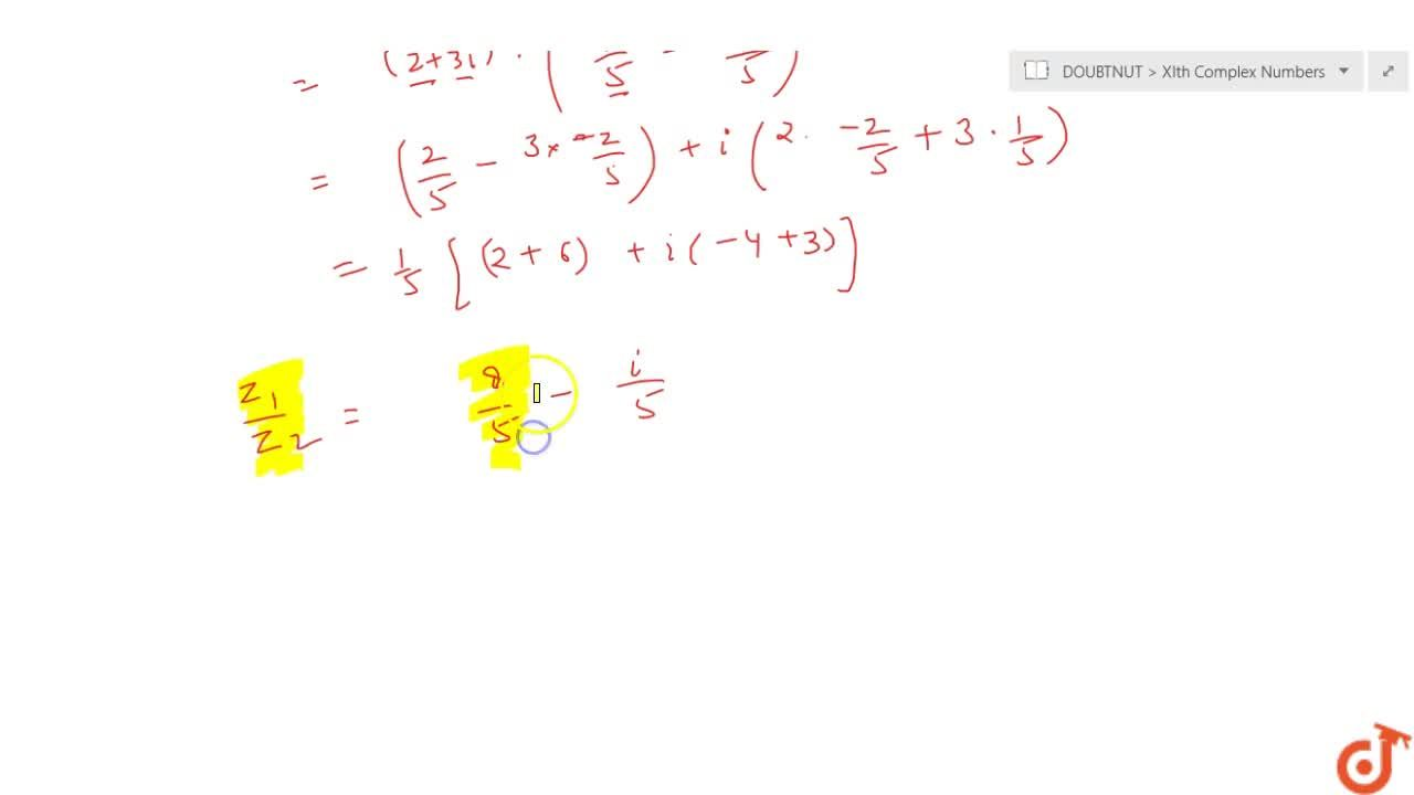 Division of two complex number