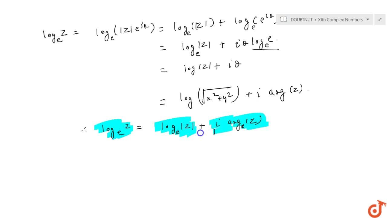Euler Form and Logarithm of a Complex number
