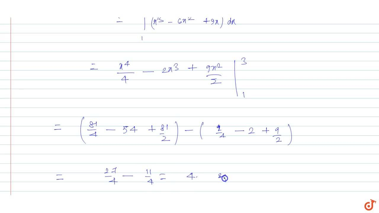 Calculate the area bounded by the curve y=x(3-x)^2 the x-axis and the ordinates of the maximum and minimum points of the curve.