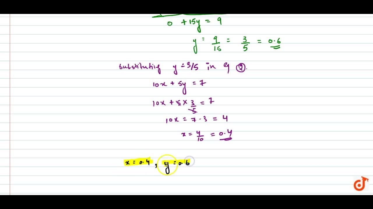 Solution for Solve the following   system of equations: x,2+y