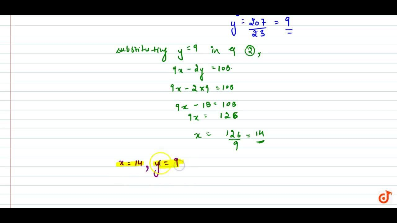 Solution for Solve the following   system of equations: x,7+y