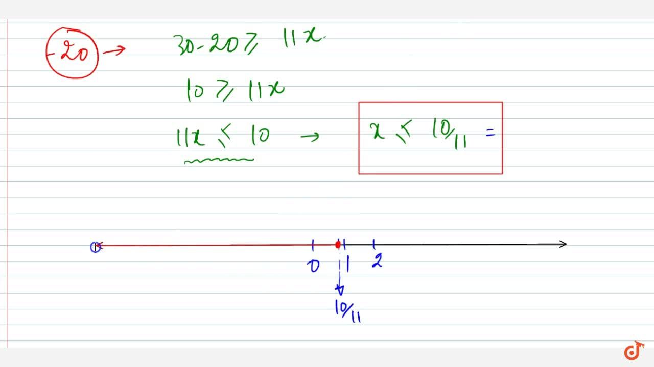 Solution for Solve the following linear inequation in R :2(3-x