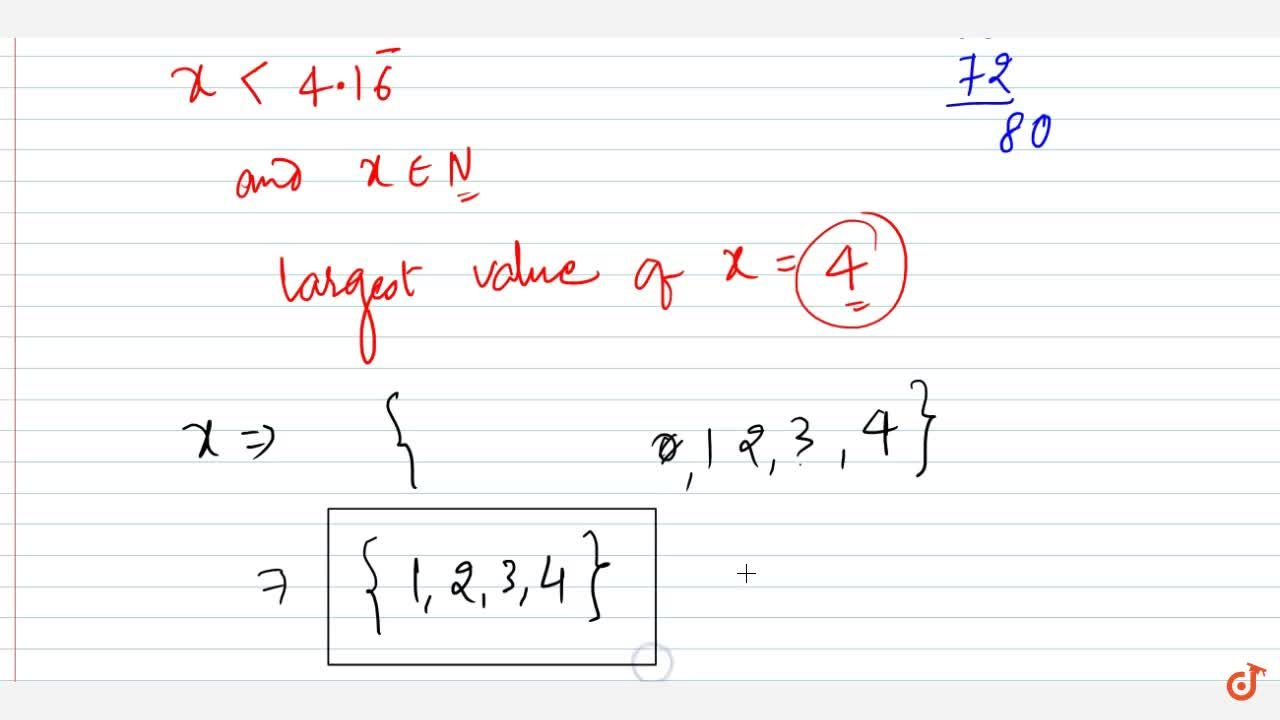 Solution for Solve the following linear inequation in R :\ \ 1