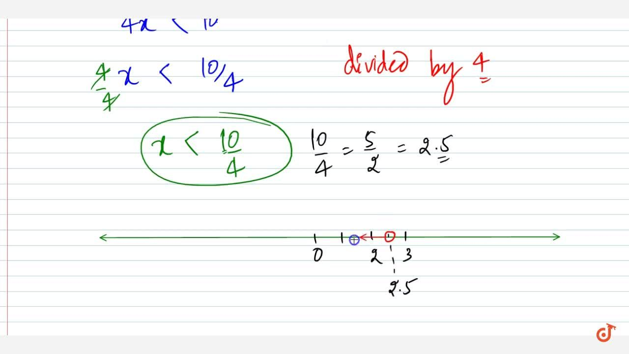 Solution for Solve the following linear inequation in R :\ 4x-