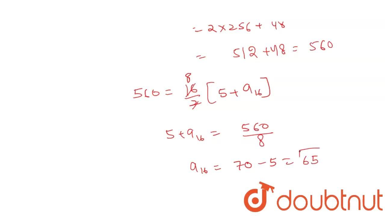 Solution for The sum of first n terms of an AP is given by S_n