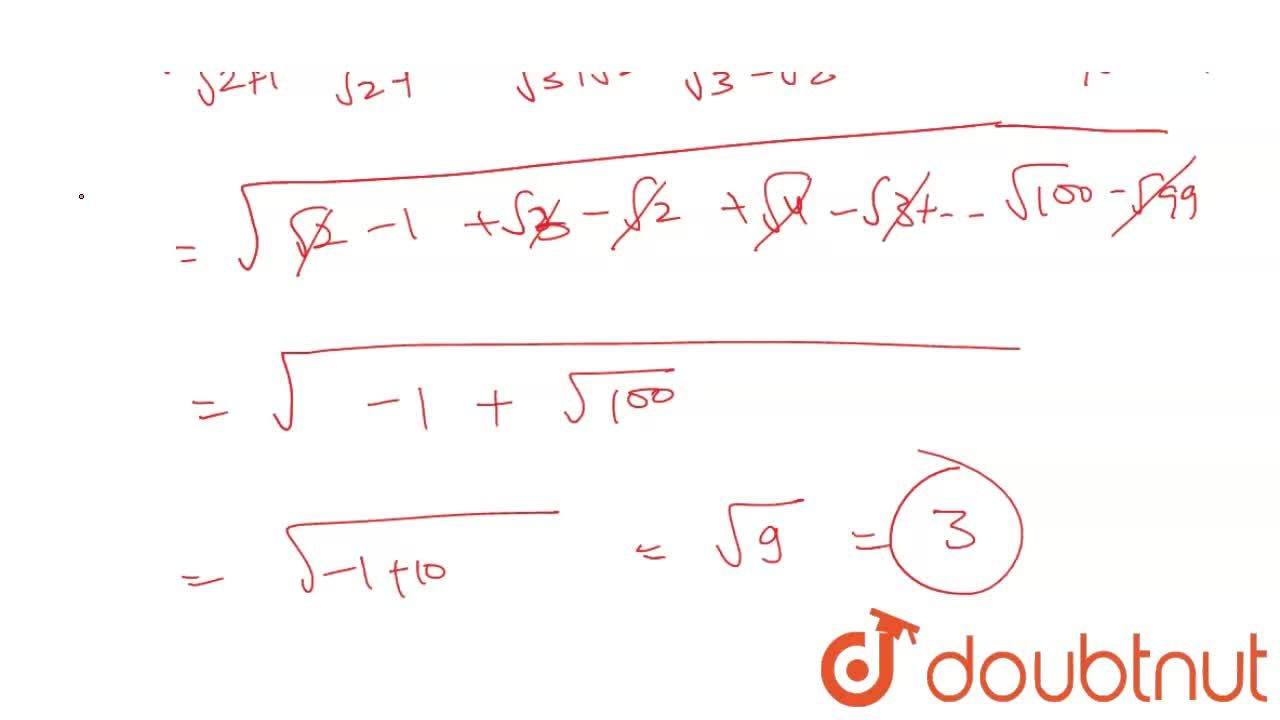 Solution for The value of the expression sqrt ((1,(sqrt2+1)+1,