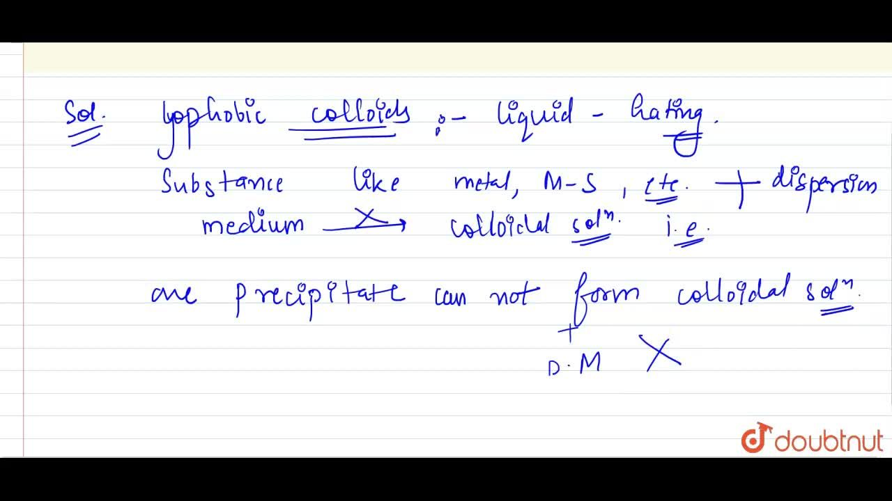 Solution for What  are lyophobic colloids? Give one example for