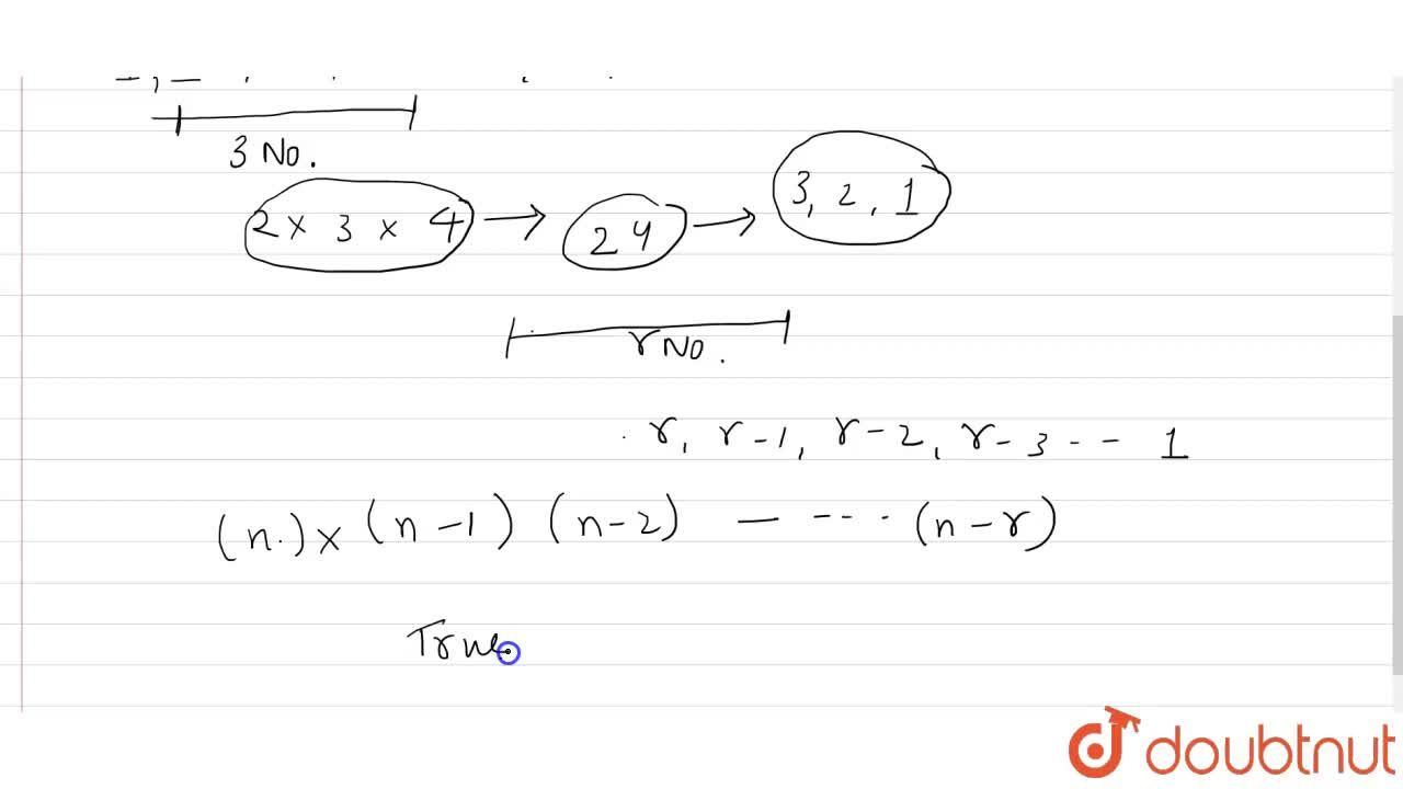 Solution for True or false: The product of any r consecutive