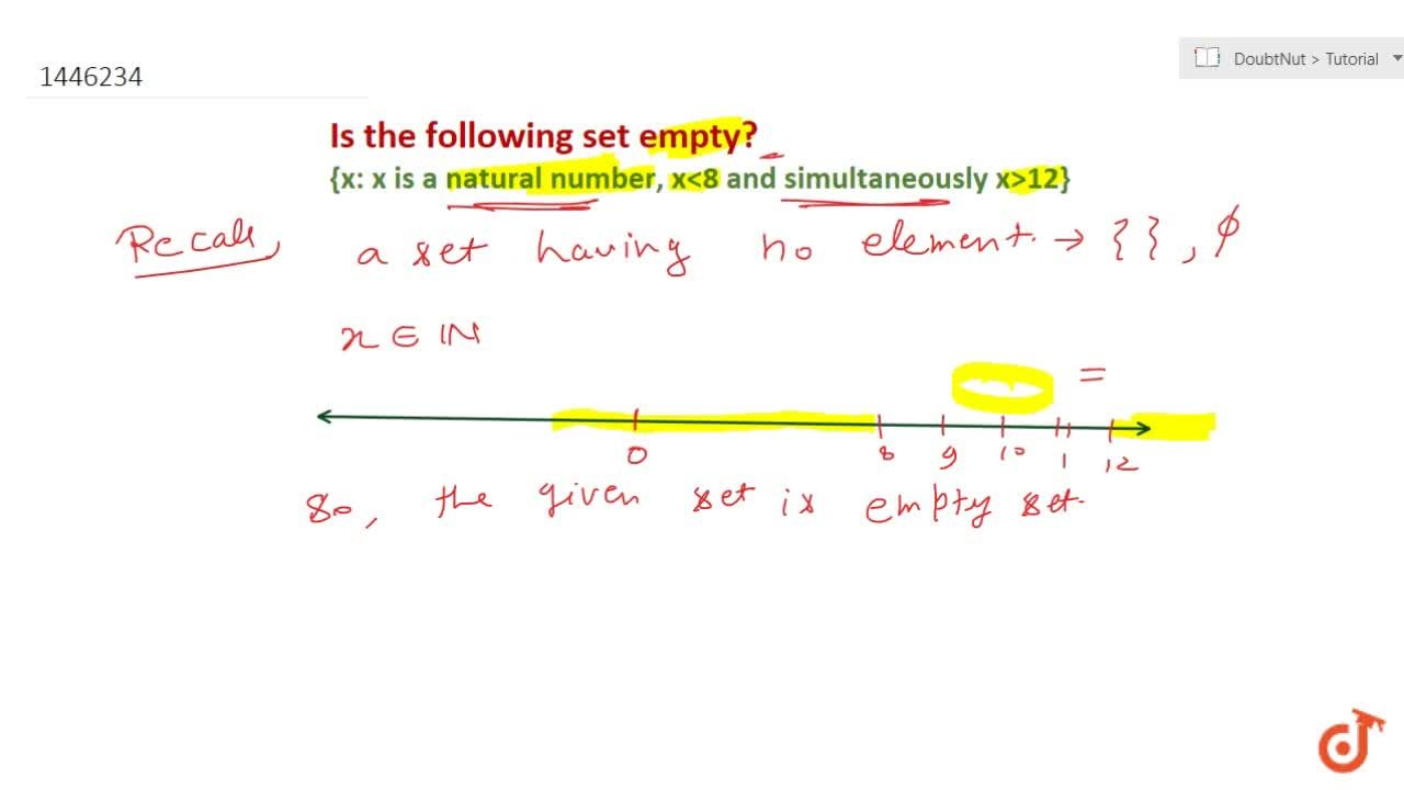Solution for Which of the following are examples of empty set?