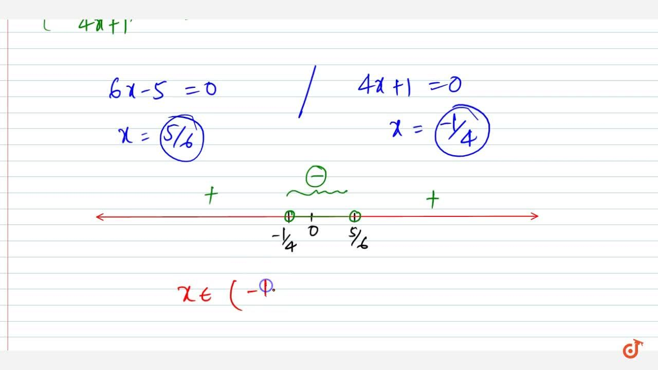 Solution for Solve the following linear inequation in R :(6x-5