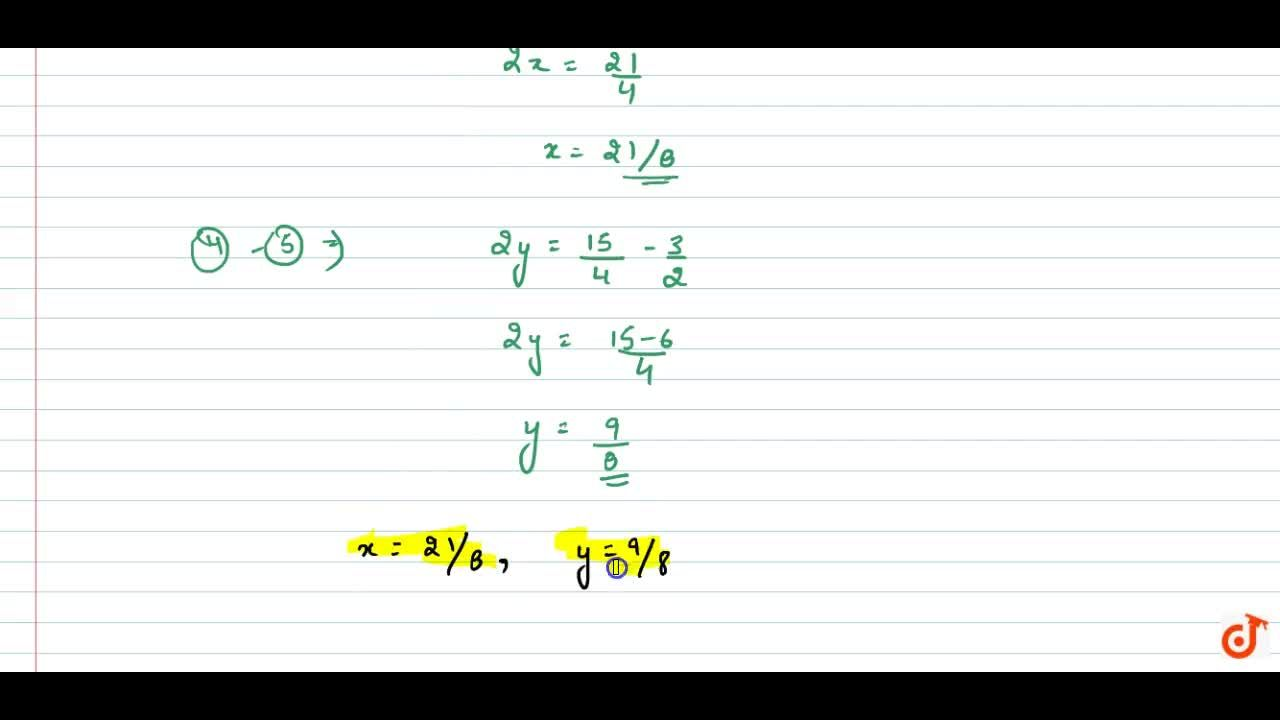 Solution for Solve the following system   of equations: (10),