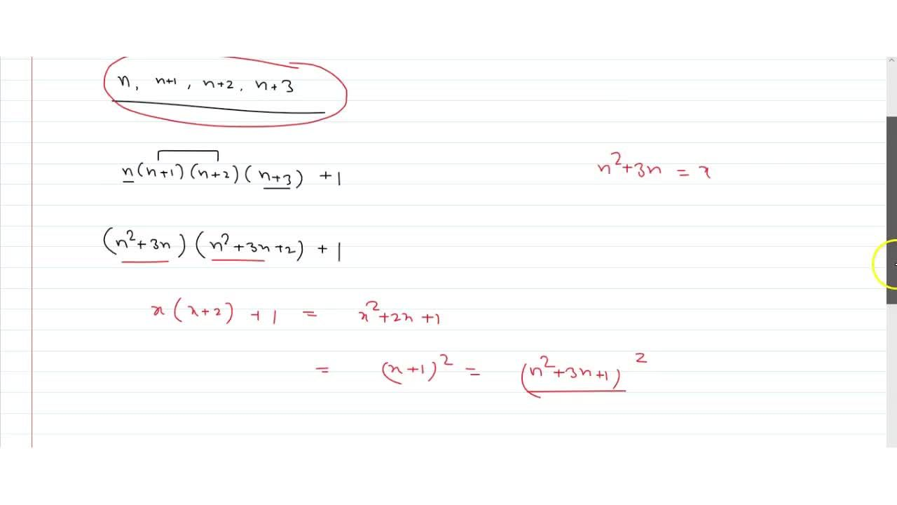 Solution for Prove that product of four consecutive positive in