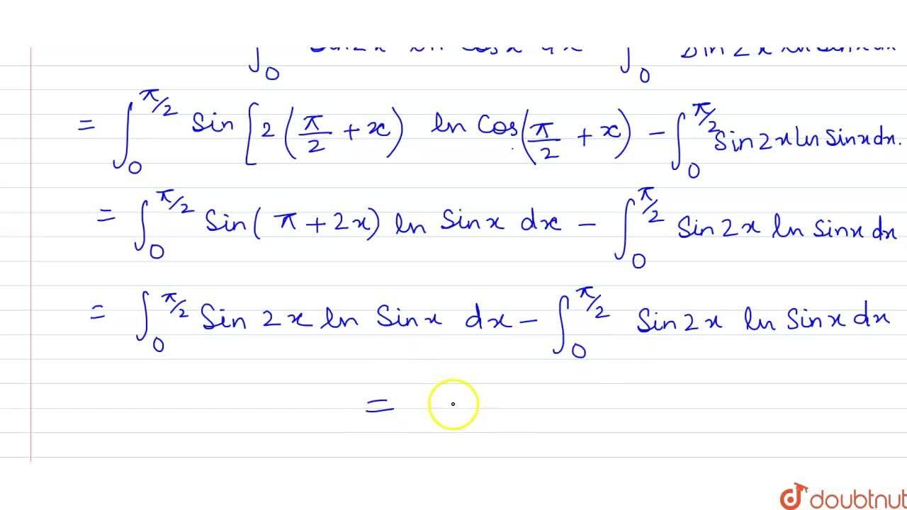Solution for What is int_(0)^(pi,,2) sin 2x ln (cot x) dx equ