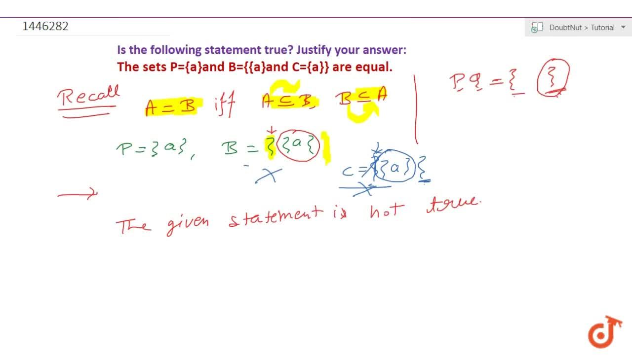 Solution for Write which of the following statements are true?