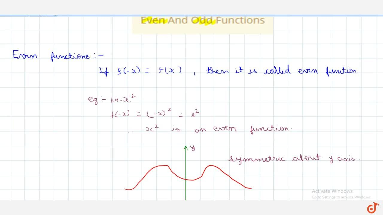 Solution for Even And Odd Functions