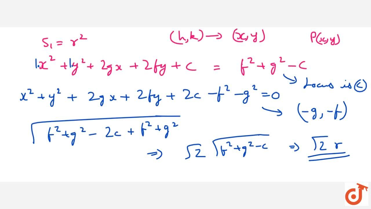 Solution for Director Circle and equation