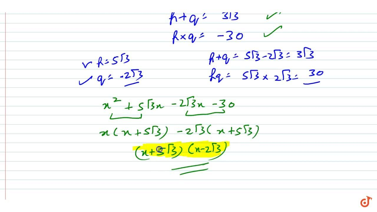 Solution for Factorize the splitting   the middle term: x^2+3
