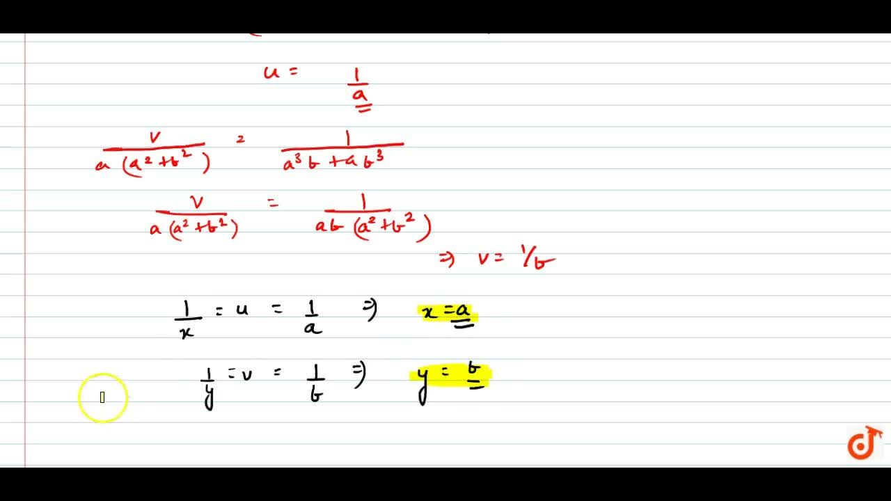 Solution for Solve the following   system of equations in x