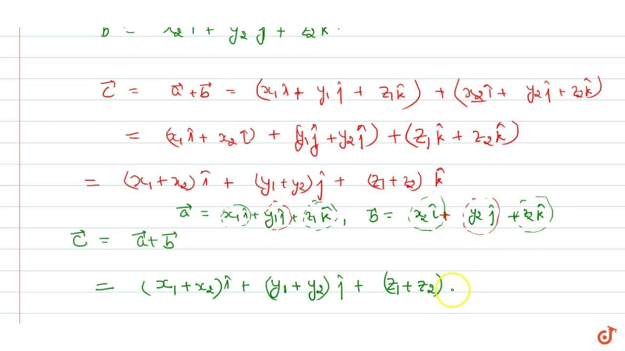 Solution for Addition of vectors in 3 dimensional space
