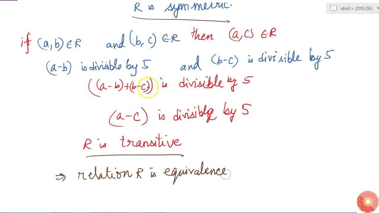 Solution for Let Z be the set of all integers and R be the