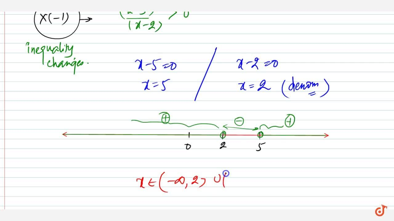 Solution for Solve the following linear inequation in R :3,(x-