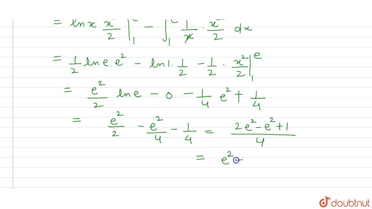 Solution for What is int_(1)^(x) ln x dx  equal to ?
