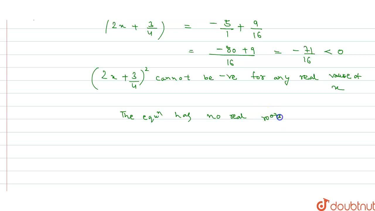 Solution for By using the method of completing the square, show
