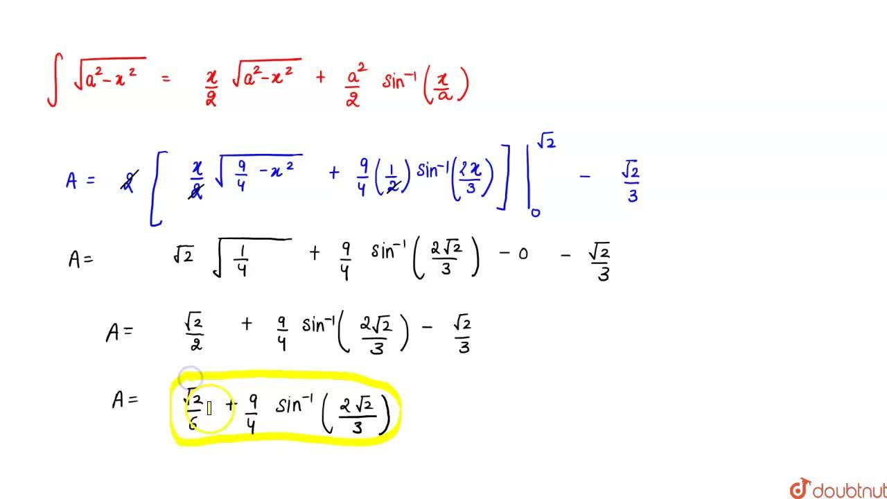 Find the area of circle 4x^2+4y^2=9 which is   interior to the parabola x^2=4y
