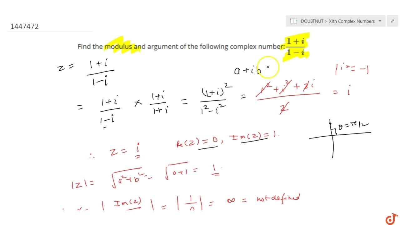 Find the modulus and argument of the following complex number:(1+i),(1-i)