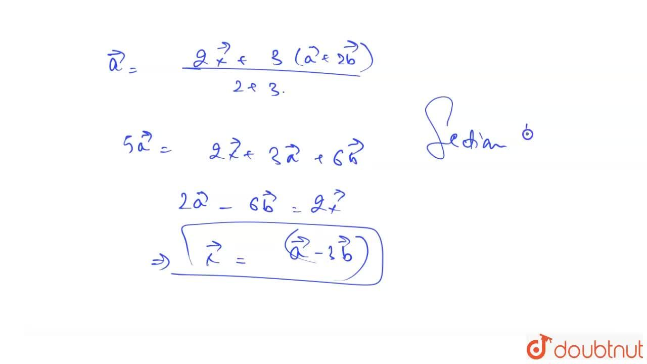 Solution for If the position vector of a point A is vec a + 2
