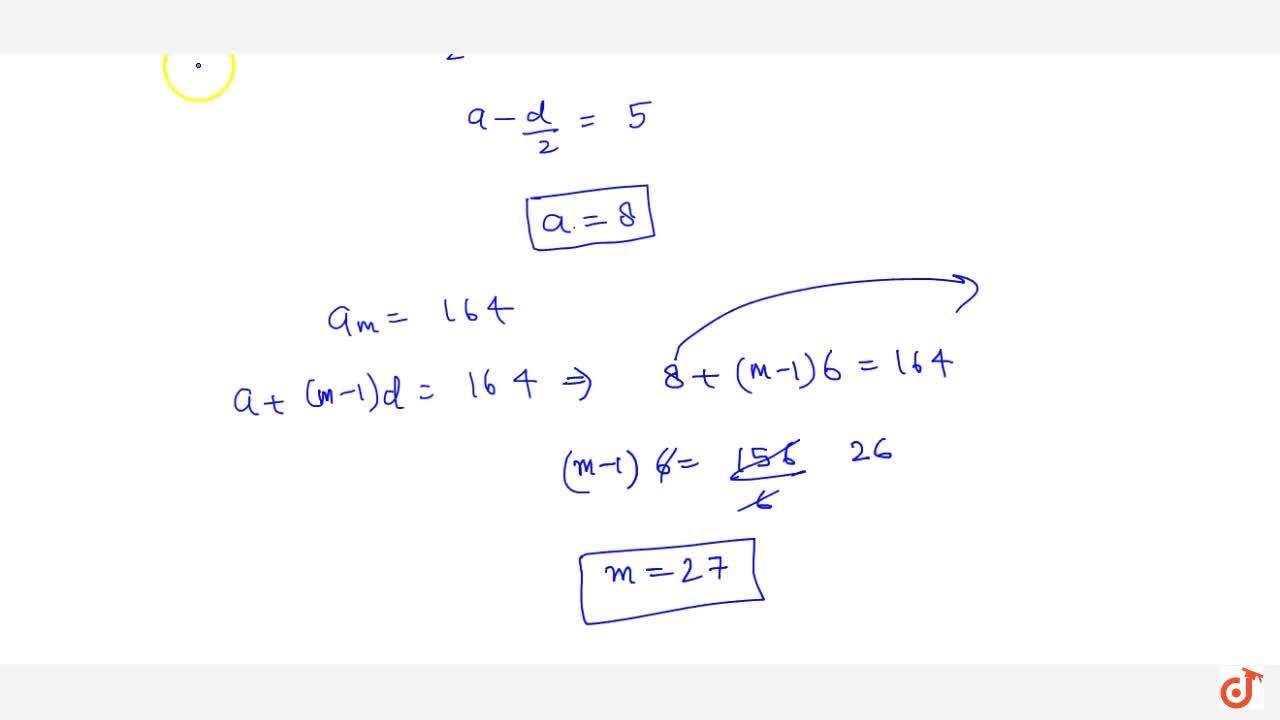 Solution for If the sum of n terms of an A.P. is 3n^2+5n an