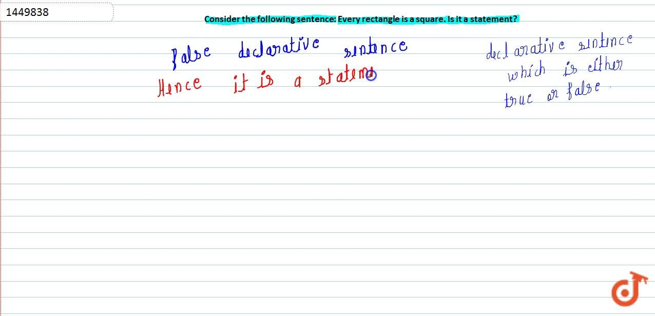 Solution for Consider the following sentence: Every rectangle i