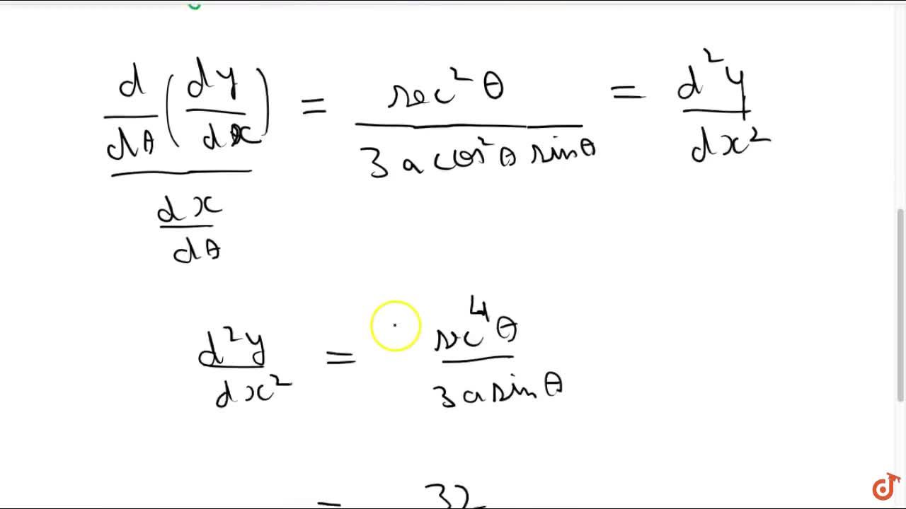 Solution for If x=a(1-cos^3theta) , y=a\ s in^3theta , prov