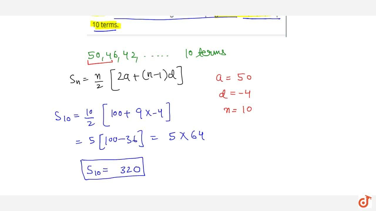 Solution for Find the sum of the following arithmetic progressi