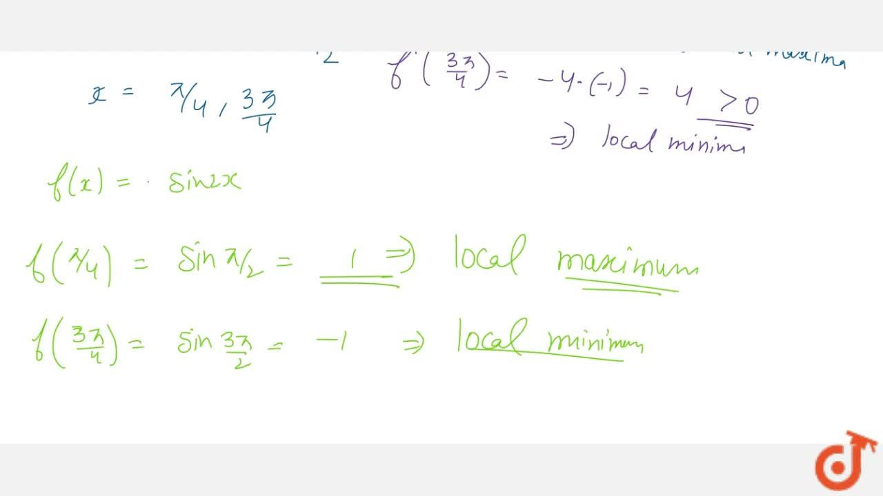Solution for Find the points of   local maxima and local minim